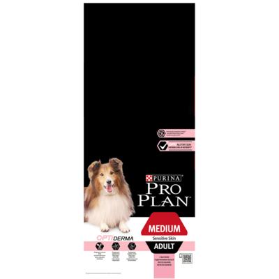 Корм для собак PRO PLAN для средних пород с чувствительной кожей лосось сух.