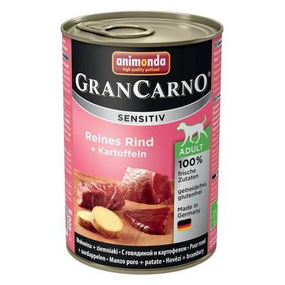 Корм для собак ANIMONDA GranCarno Sensitiv с чувствит. пищеварением, говядина, картофель