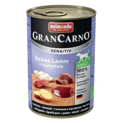 Корм для собак ANIMONDA GranCarno Sensitiv с чувствит. пищеварением, ягненок, картофель