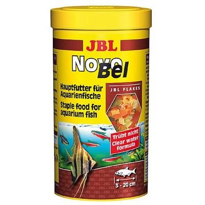 Корм для рыб JBL NovoBel основной в форме хлопьев для всех аквариумных рыб, 250мл. (40г)