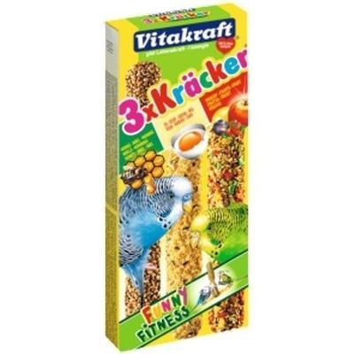 Лакомство для птиц VITAKRAFT Крекеры мед, яйцо, фрукты для попугаев (3шт.уп)