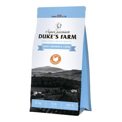 Корм для собак DUKE'S FARM для средних и крупных пород, индейка