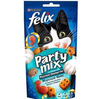 Лакомство для кошек FELIX Party mix Морской Микс