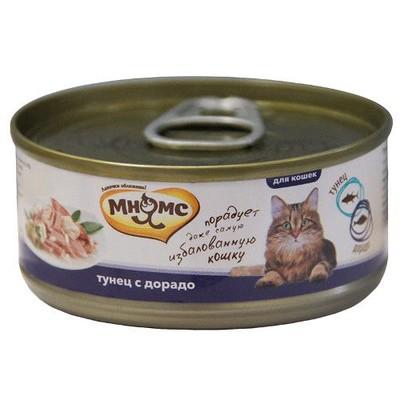 Корм для кошек МНЯМС Тунец с дорадо в нежном желе конс.