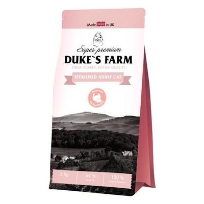 Корм для кошек DUKE'S FARM для стерилизованных кошек, индейка с кроликом