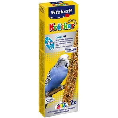 Лакомство для птиц VITAKRAFT Крекеры для волнистых попугаев-птенцов кальций, мед (2шт.уп)