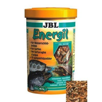 Корм для рыб JBL Energil из целиком высушенных рыб и рачков для крупных водных черепах 1л. (150г)